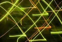 Abstract background in green tones. Blurred colorful lights in motion. Abstract background in green tones royalty free illustration