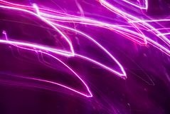 Abstract background in purple tones. Blurred colorful lights in motion. Abstract background in purple tones stock illustration