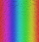 Blurred Colorful rainbow abstract background, 3d block style Stock Photo