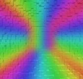 Blurred Colorful rainbow abstract background, 3d block style Royalty Free Stock Photo
