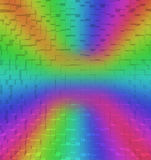 Blurred Colorful rainbow abstract background, 3d block style Royalty Free Stock Images
