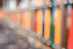 Blurred and colorful striped fence on abstract Royalty Free Stock Photos