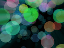 The blurred colourful lights at the background Stock Photo