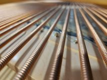 Blurred Concert Piano Strings. Background Stock Photo