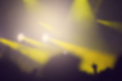 Blurred concert stage lights Stock Image