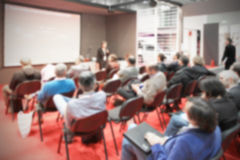 Blurred conference, intentionally blurred background Royalty Free Stock Photography