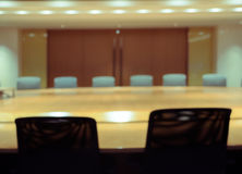 Blurred conference room for background Stock Image