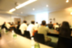 Blurred conference Room Royalty Free Stock Image