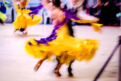 Blurred couple athletes dancers Stock Image