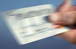 Blurred credit card Royalty Free Stock Photo