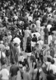 Blurred crowd in black and white Stock Photography