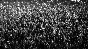 Blurred crowd at a concert Royalty Free Stock Images