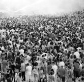Blurred crowd at a concert Royalty Free Stock Photos