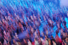 Blurred crowd. Crowd of people having fun Royalty Free Stock Photography
