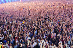Blurred crowd of people partying Royalty Free Stock Images