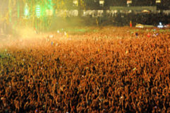 Blurred crowd of people partying Stock Photography