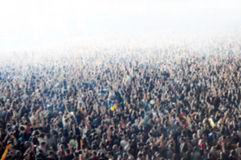 Blurred crowd of people partying. At a concert royalty free stock photos