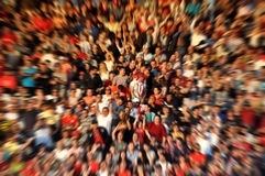 Blurred crowd of spectators on a stadium tribune Royalty Free Stock Photography