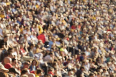 Blurred crowd in stadium Royalty Free Stock Photo