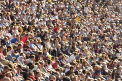 Blurred crowd in stadium Stock Photography
