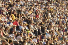 Blurred crowd in stadium Stock Photos