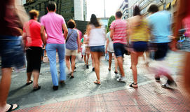 Blurred crowd walking Stock Photography