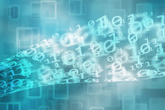 Blurred and curved binary numbers bokeh background Royalty Free Stock Photography