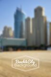 Blurred day beach and city vector background Royalty Free Stock Photo