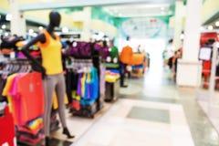 Blurred, de focus shopping mall, sport wear Stock Photo