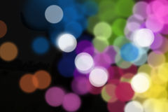 Blurred decoration lights Stock Images