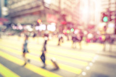Blurred defocused abstract background of people walking on street Stock Photography