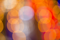 Blurred Defocused Lights of Heavy Traffic Royalty Free Stock Photos