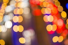 Blurred Defocused Lights of Heavy Traffic Royalty Free Stock Image