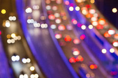 Blurred Defocused Lights of Heavy Traffic Royalty Free Stock Images