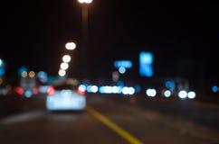 Blurred Defocused Lights of Traffic Stock Photos