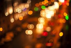 Blurred Defocused Multi Color Lights. Night City Royalty Free Stock Image
