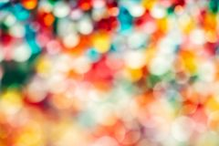 Blurred Defocused Multi Color Lights. Blurred in defocus multi color christmas lights. Happy new year wallpaper decorations concept.xmas holiday festival royalty free stock photo