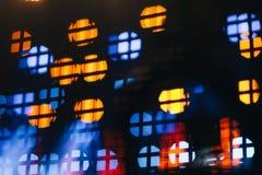 Blurred defocused spotlights Royalty Free Stock Images