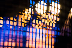 Blurred defocused spotlights Stock Image