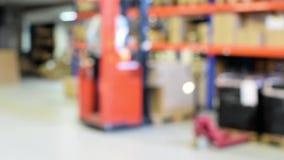 Blurred defocused warehouse stock video footage