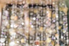 Blurred Defocussed Abstract Background of a Christmas Chandelier Stock Photography
