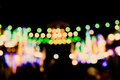 Blurred Defocussed Abstract Background of a Night Market Royalty Free Stock Images