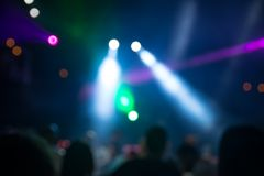 Blurred disco party Royalty Free Stock Image