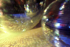 Blurred discoballs Royalty Free Stock Photos