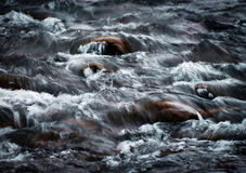 Blurred dramatic detail the fierce river royalty free stock images