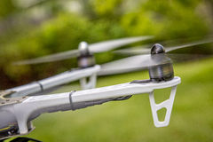 Blurred drone propellers Royalty Free Stock Photography