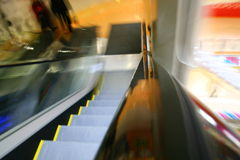 Blurred escalator Royalty Free Stock Photos
