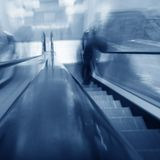Blurred escalator Stock Photography