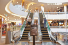 Blurred escalator in department store Royalty Free Stock Images
