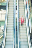 Blurred escalators Stock Photo